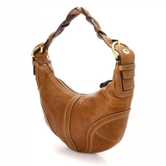 7e7362ce29 Coach Handbags - COACH Soho Dylan Distressed Leather Braided Hobo !